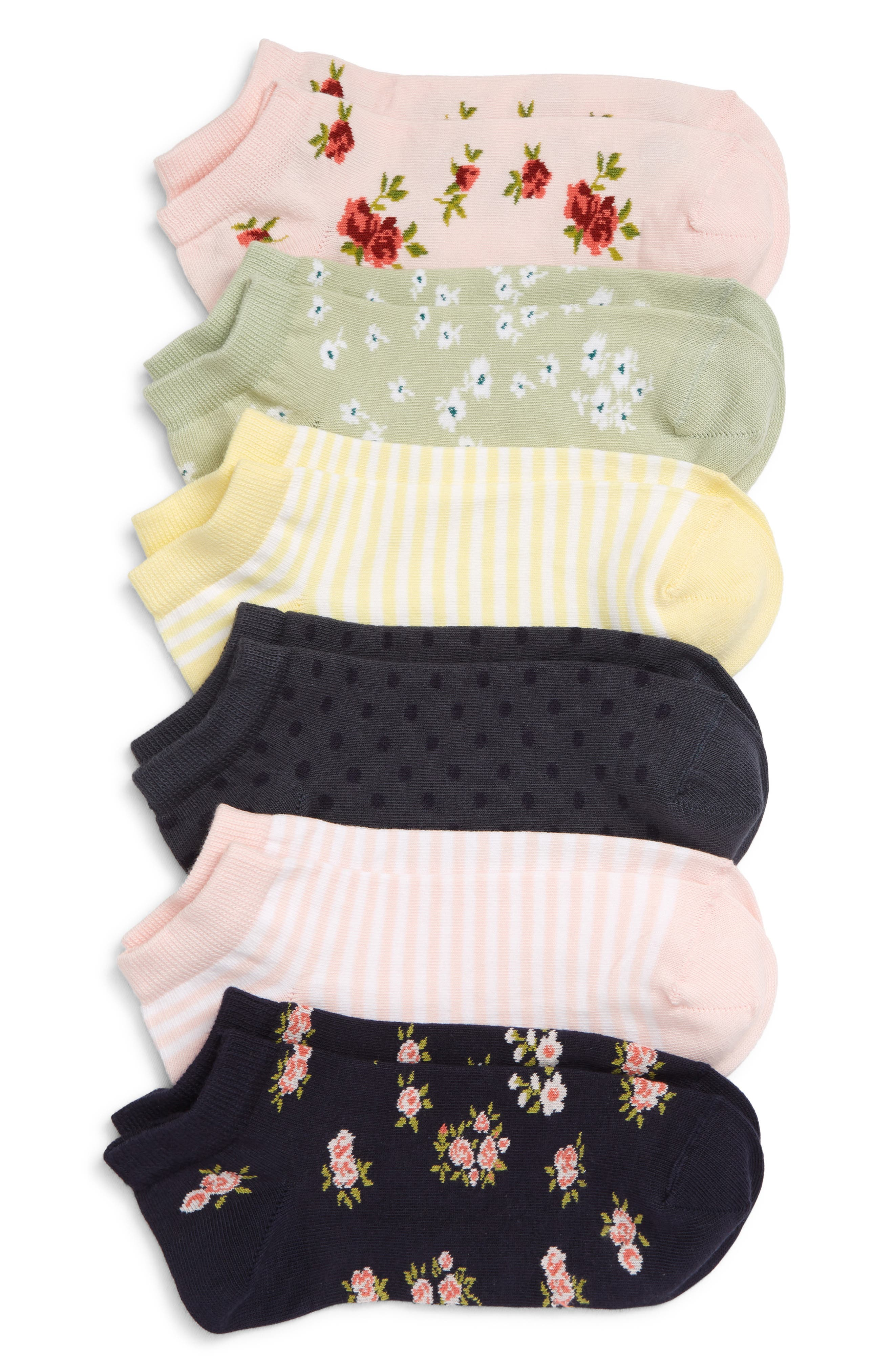 Choose charm with these delightfully patterned low-cut socks. Style Name: Nordstrom Assorted 6-Pack Low-Cut Socks. Style Number: 5950291. Available in stores.