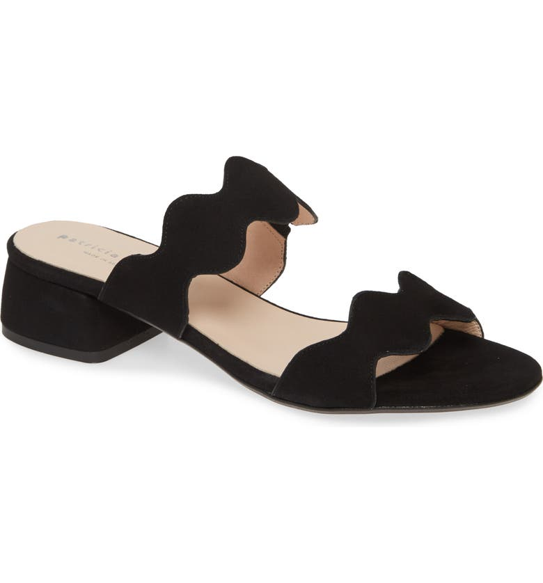 PATRICIA GREEN Emilia Slide Sandal, Main, color, BLACK LEATHER