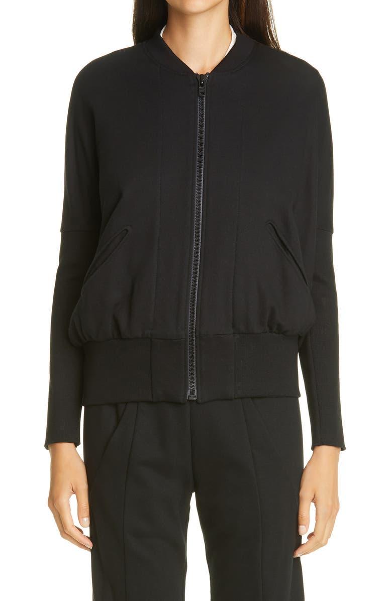 ZERO + MARIA CORNEJO Koya Cotton Bomber Jacket, Main, color, BLACK