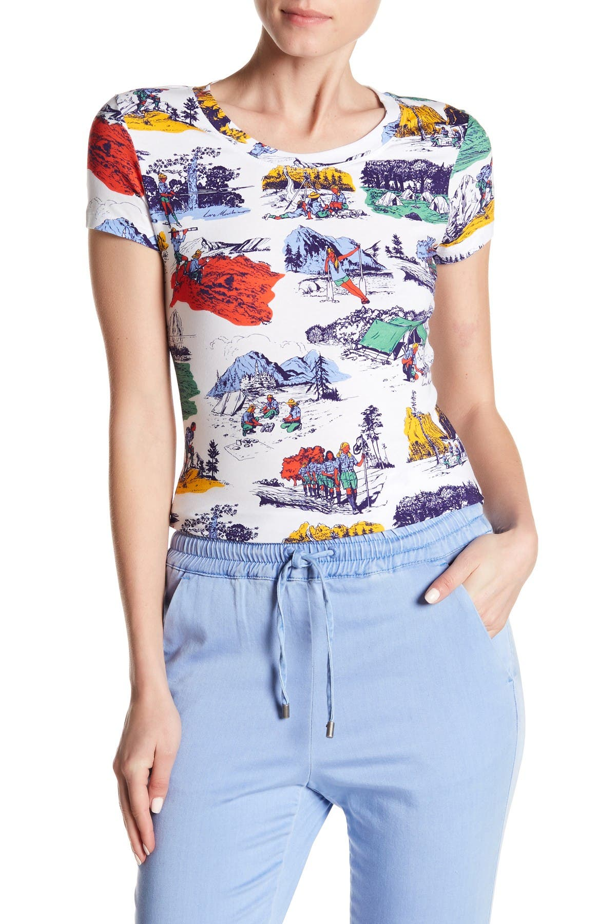 Image of LOVE Moschino Camping Printed T-Shirt