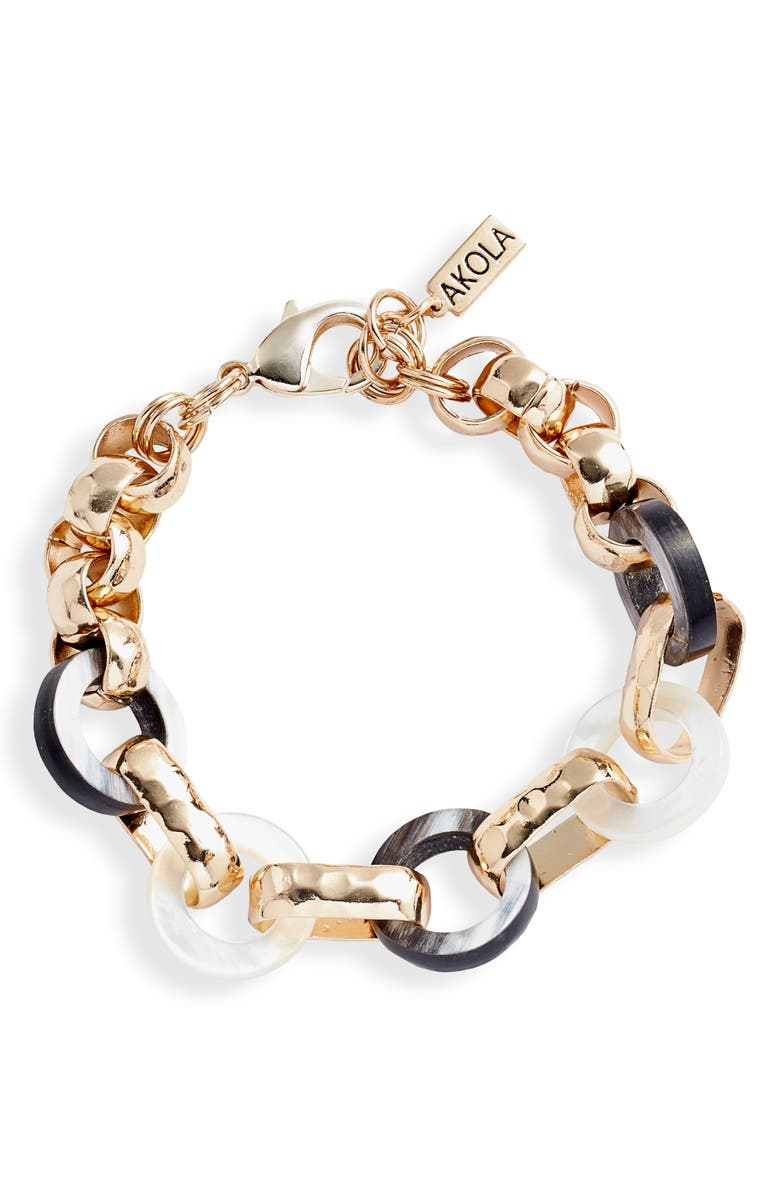 AKOLA Nina Link Bracelet, Main, color, 001