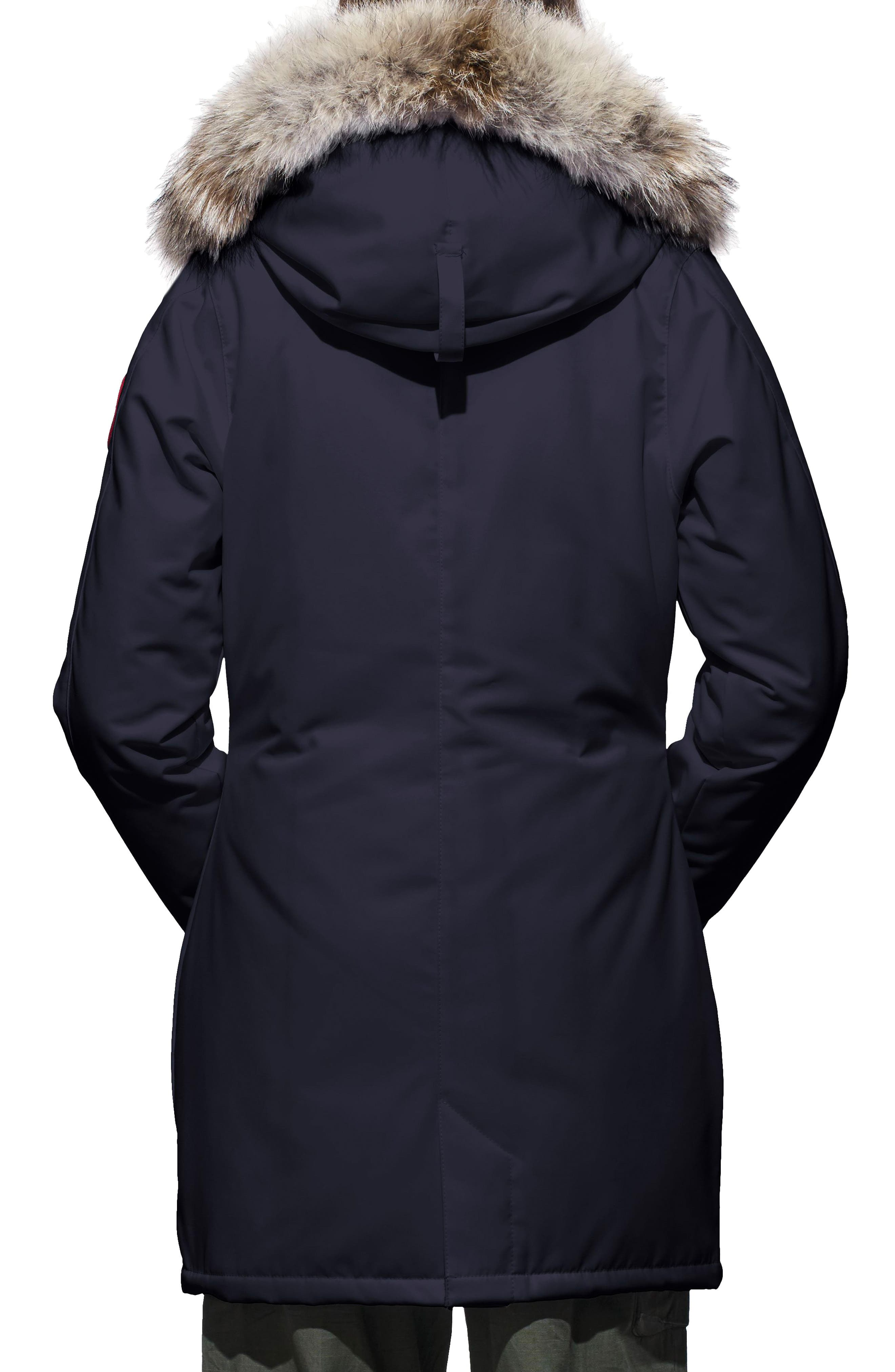 ,                             Victoria Down Parka with Genuine Coyote Fur Trim,                             Alternate thumbnail 2, color,                             ADMIRAL BLUE