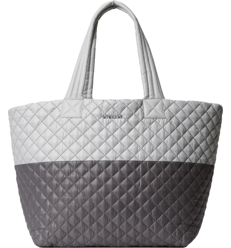 MZ WALLACE Large Metro Tote, Main, color, FOG AND MAGNET COLORBLOCK