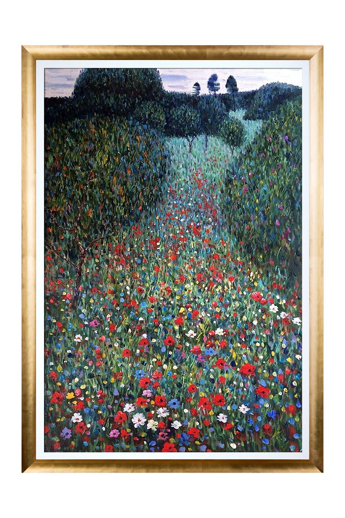Poppy Field Framed Oil reproduction of an original painting by Gustav Klimt at Nordstrom Rack