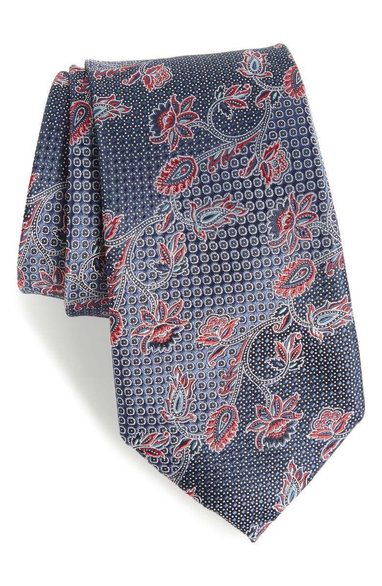 NORDSTROM MEN'S SHOP Demarco Floral Silk Tie, Main, color, 410