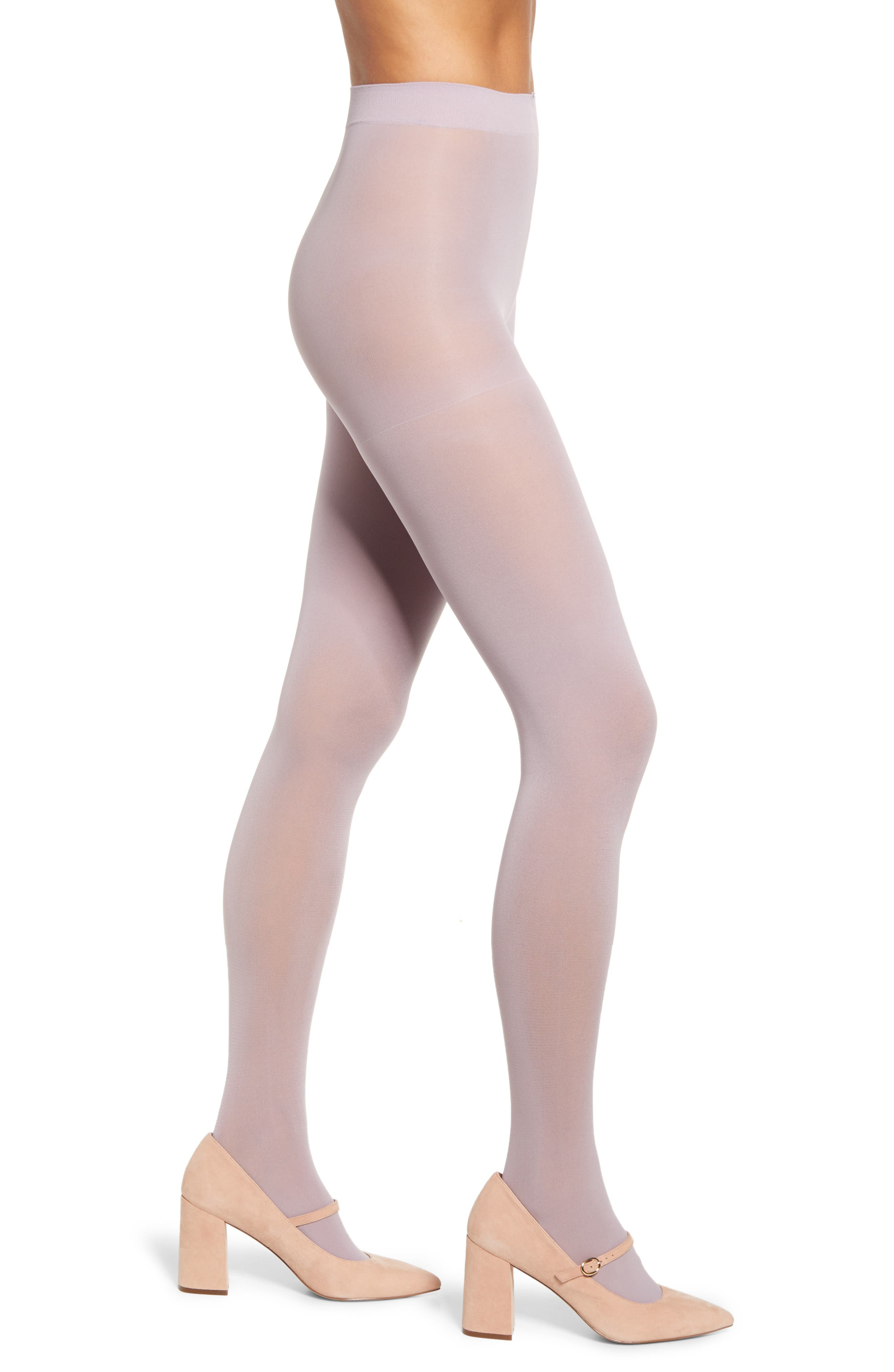 1960s Tights, Stockings, Panty Hose, Knee High Socks Womens Halogen X Atlantic-Pacific Opaque Tights Size Large - Purple Regular  Plus Size Nordstrom Exclusive $19.00 AT vintagedancer.com