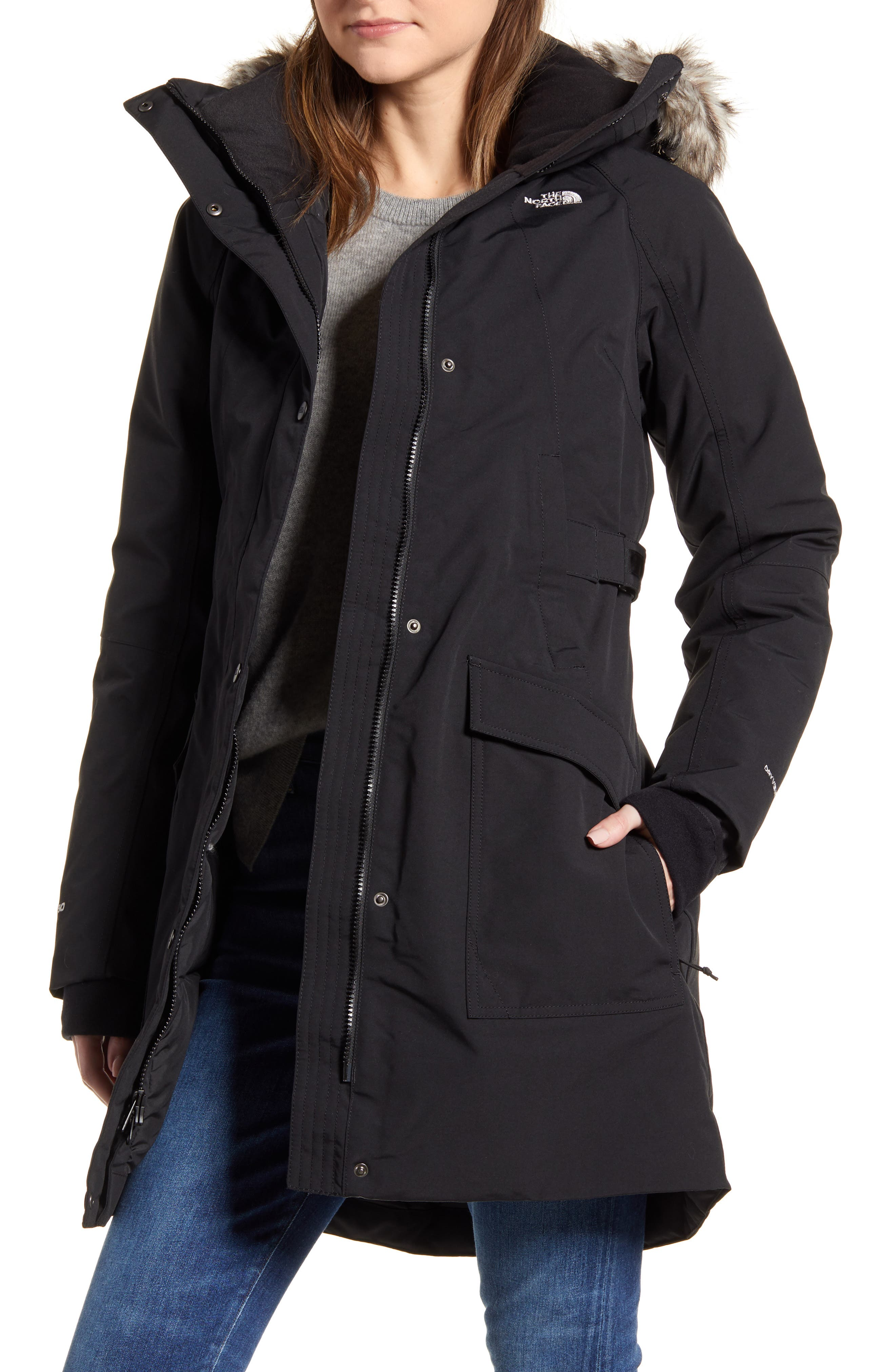 The North Face Outer Boroughs Faux Fur Trim 550 Fill Power Down Parka