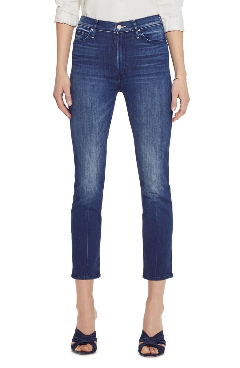 The Rascal High Waist Crop Skinny Jeans by Mother