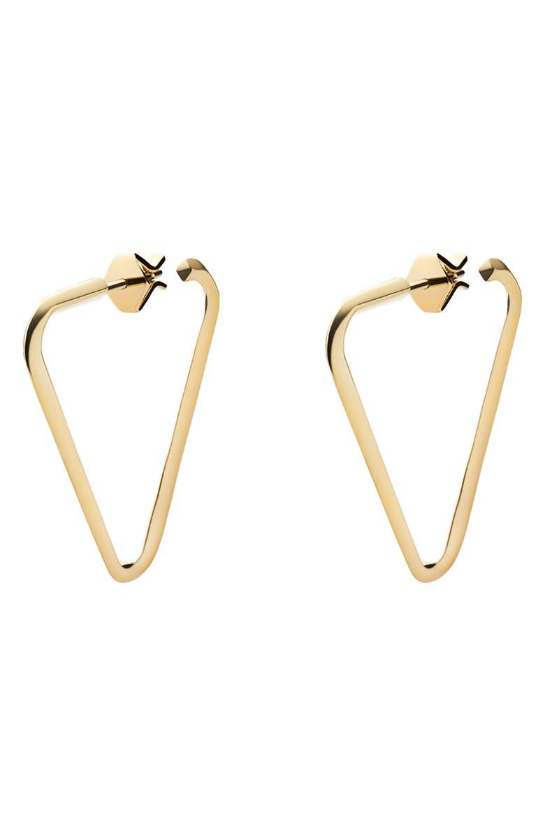 MIANSAI Triangle Hoop Earrings, Main, color, 710
