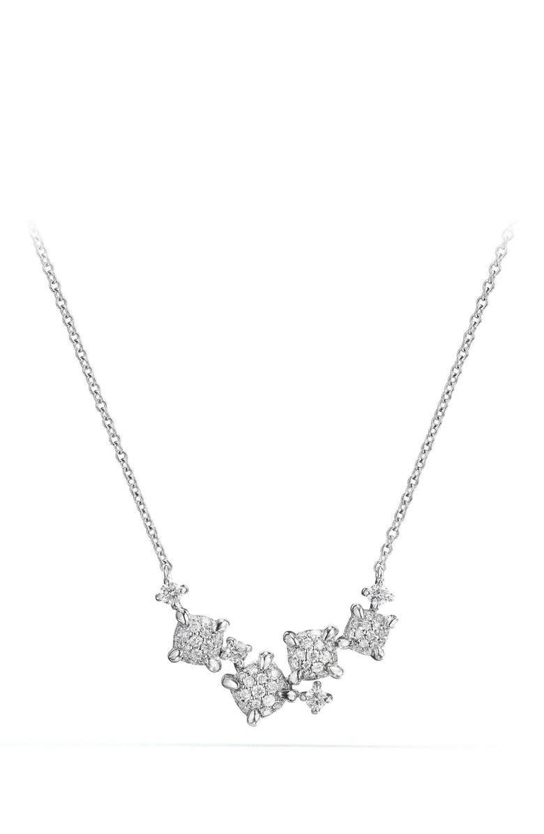 DAVID YURMAN Precious Châtelaine Necklace with Diamonds in 18K Gold, Main, color, WHITE GOLD/ DIAMOND