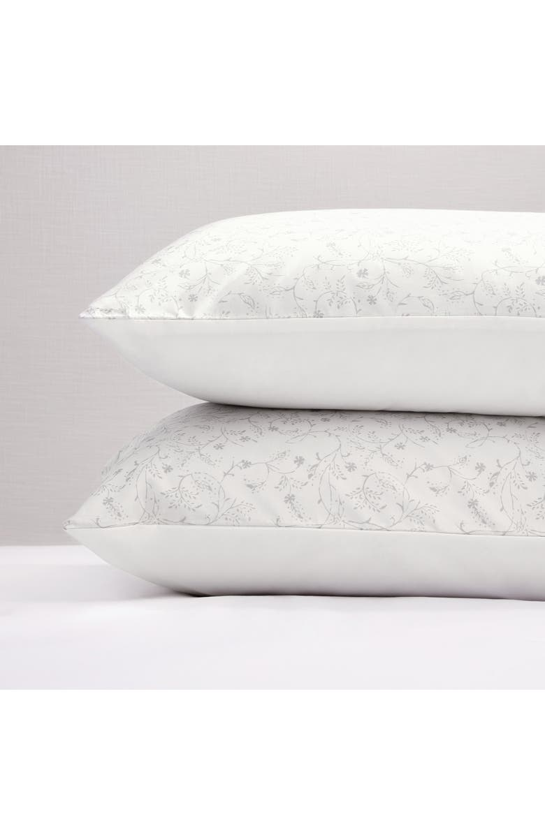 THE WHITE COMPANY Florence Oxford Sham, Main, color, WHITE/ GREY