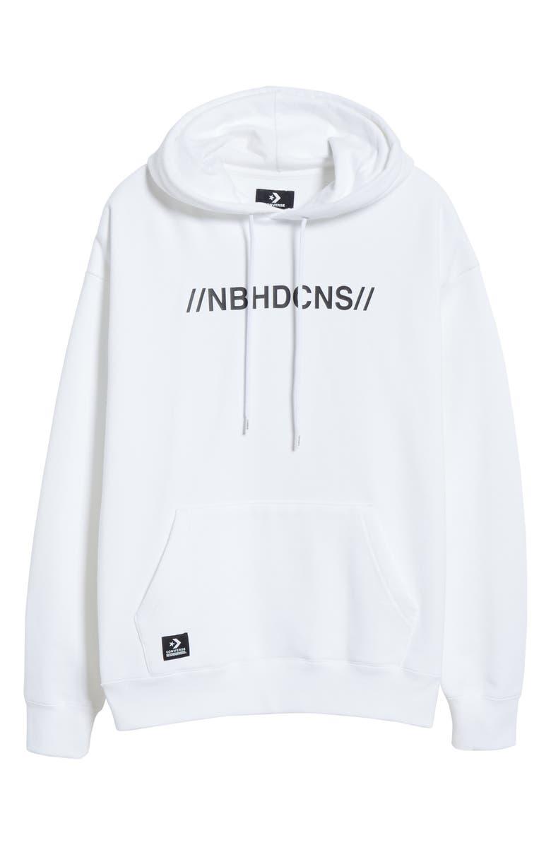 CONVERSE x NEIGHBORHOOD Hooded Sweatshirt, Main, color, WHITE
