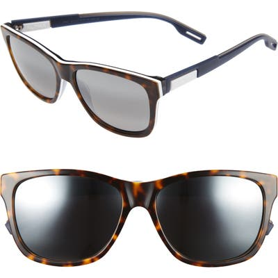 Maui Jim Howzit 5m Polarized Gradient Sunglasses - Tortoise/ White/ Blue