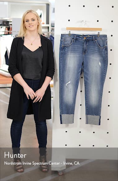 Tower High Waist Cuffed Skinny Jeans, sales video thumbnail