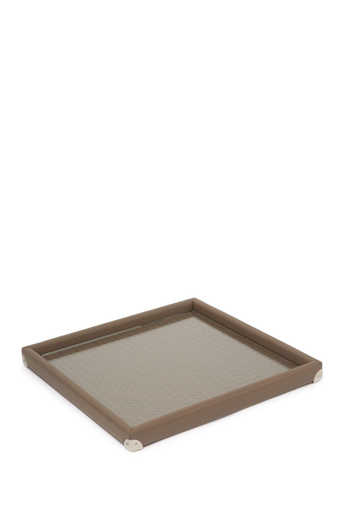 Image of Bottega Veneta Leather Weave Tray