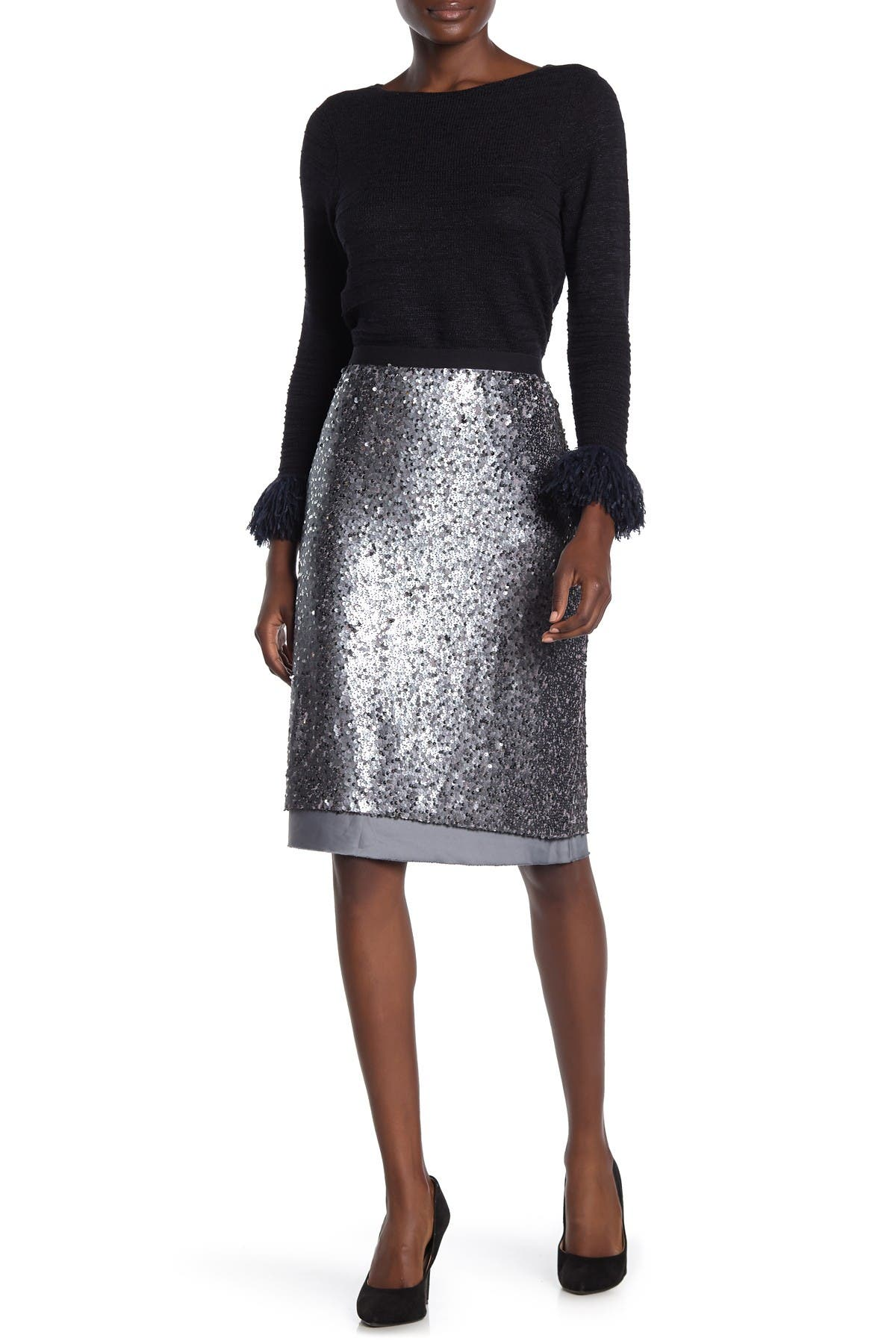 Image of NIC+ZOE Twinkle Night Sequin Skirt