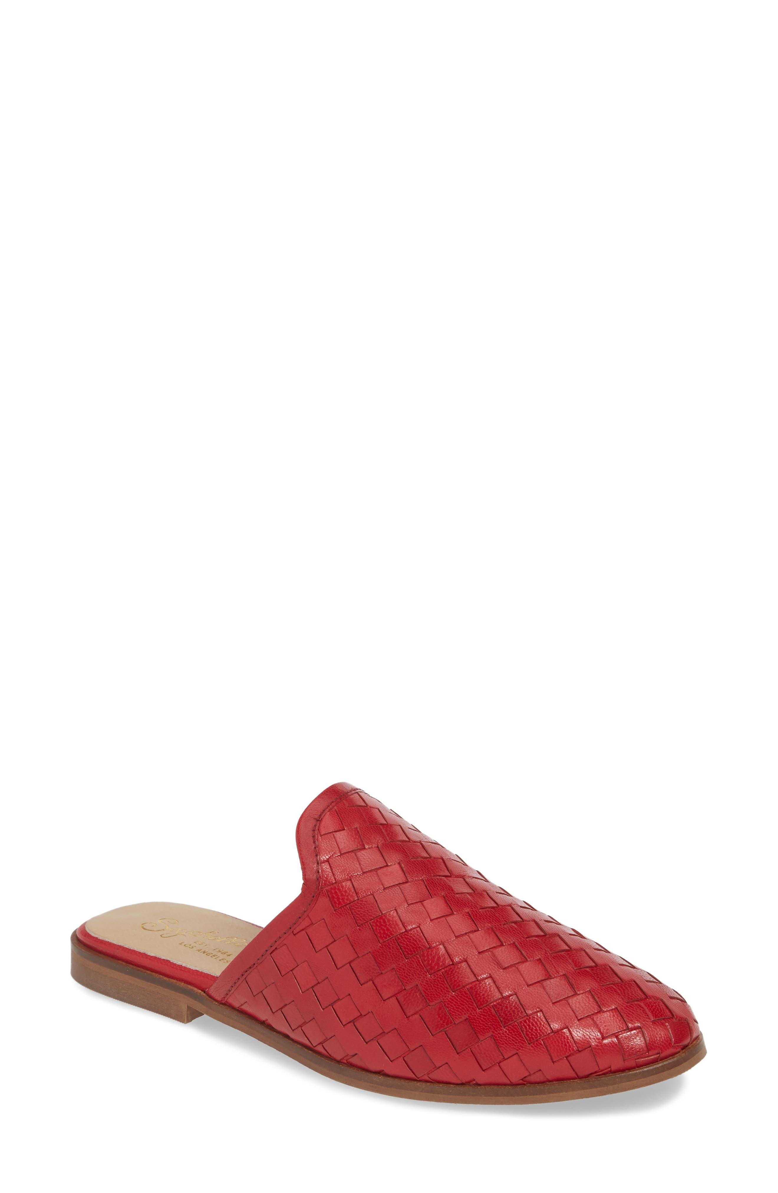Seychelles Knickknack Woven Loafer Mule, Red