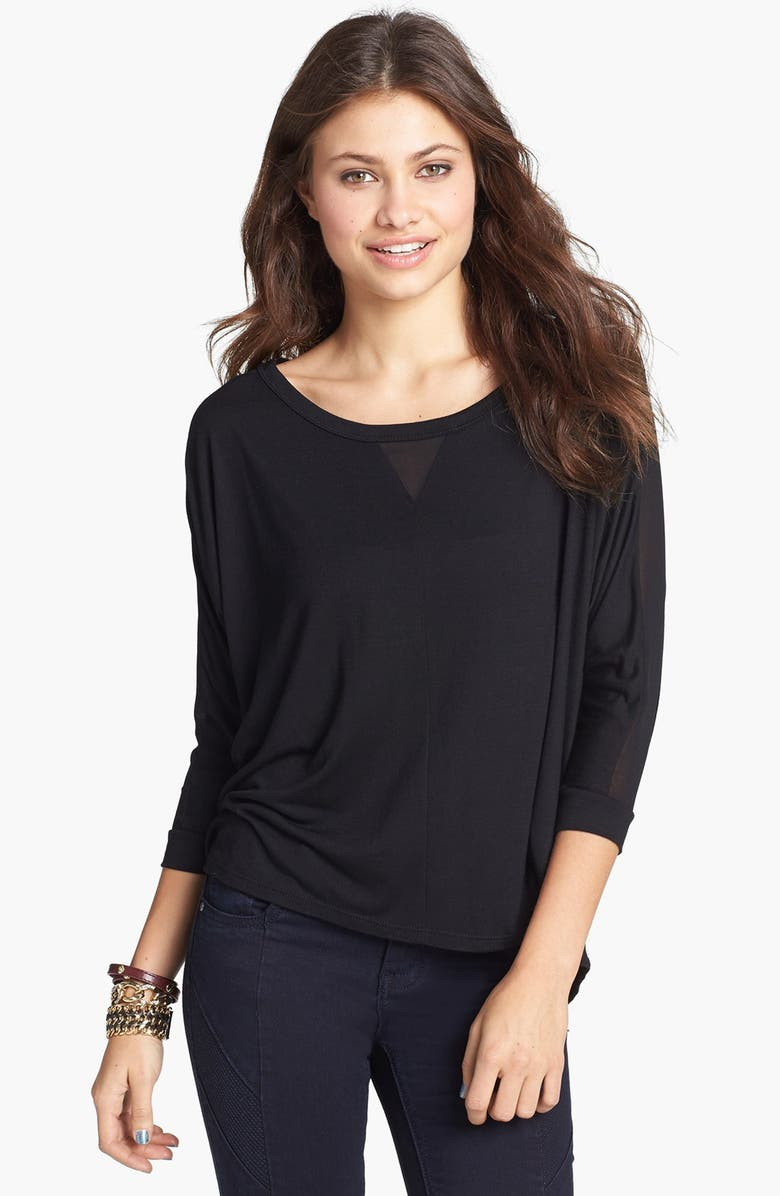 ELODIE Mixed Media Tee, Main, color, 001