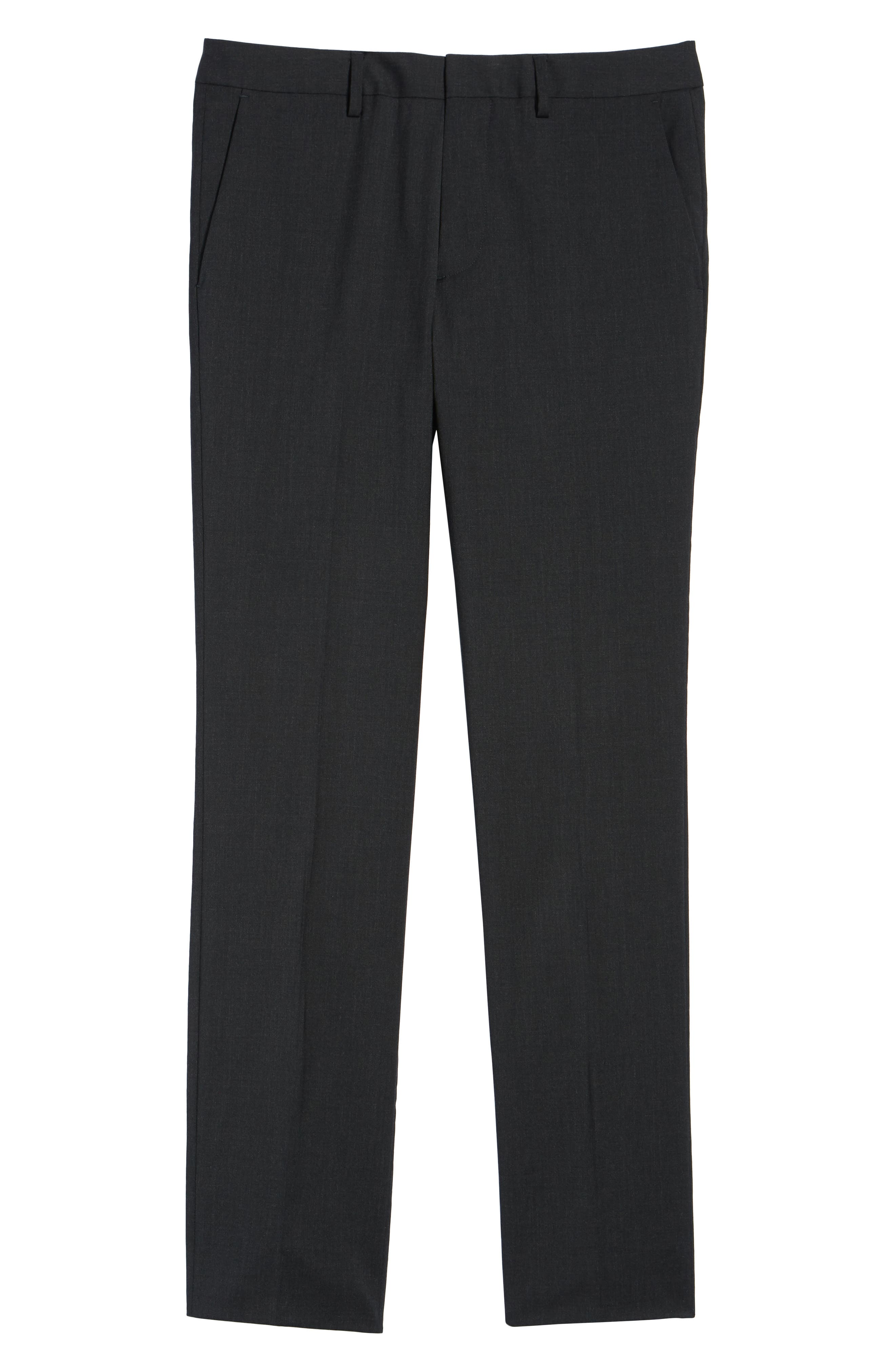 ,                             Jetsetter Slim Fit Flat Front Stretch Wool Trousers,                             Alternate thumbnail 18, color,                             021