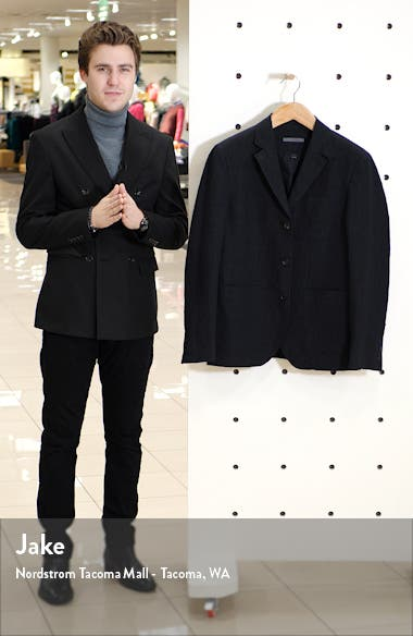 Slim Fit Stretch Cotton & Linen Blazer, sales video thumbnail