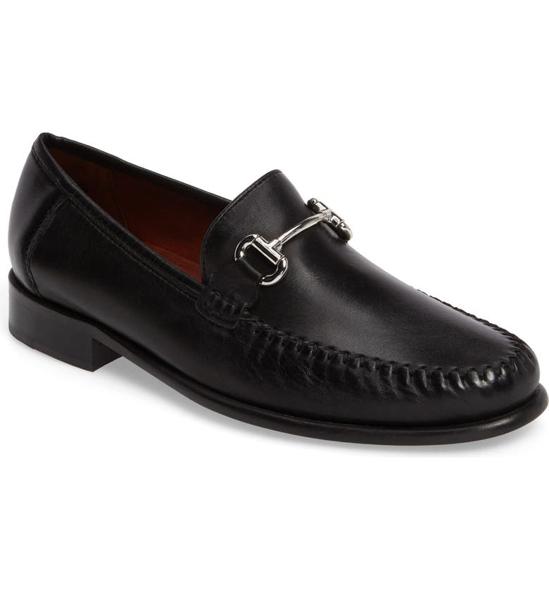ROBERT ZUR Elton Bit Loafer, Main, color, BLACK LEATHER