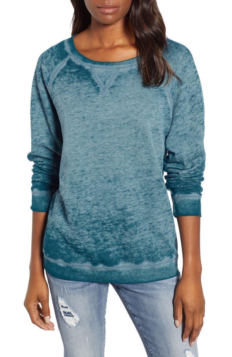 CASLON<SUP>®</SUP> Burnout Sweatshirt, Main, color, 421