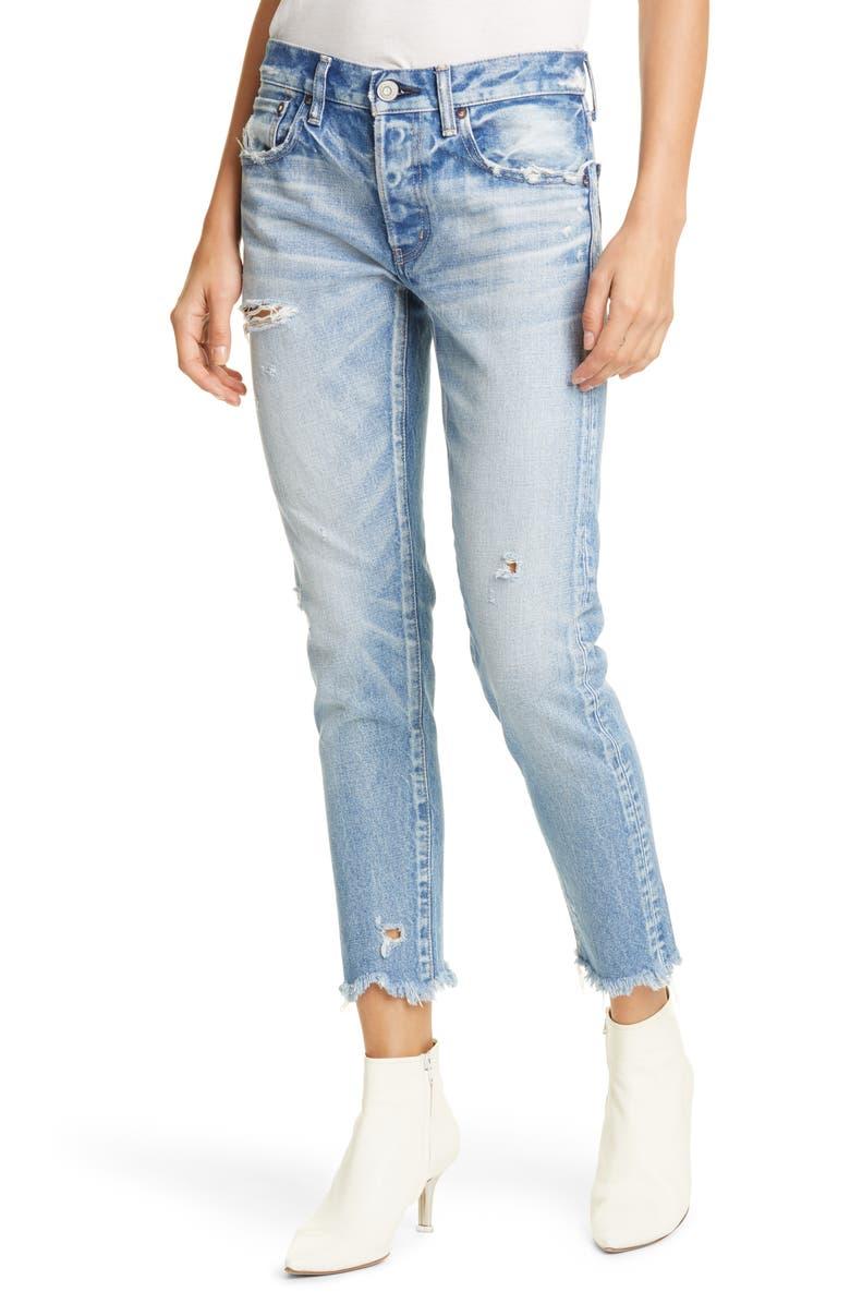 MOUSSY VINTAGE Kelley Crop Tapered Jeans, Main, color, LIGHT BLUE