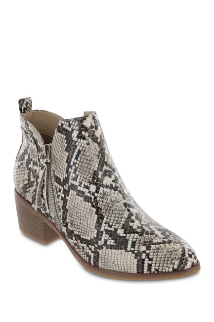 Image of MIA Auden Snakeskin Printed Ankle Bootie