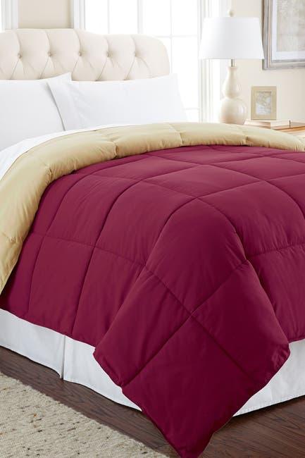 Image of Modern Threads Down Alternative Reversible Twin Comforter - Anemone/Wheat