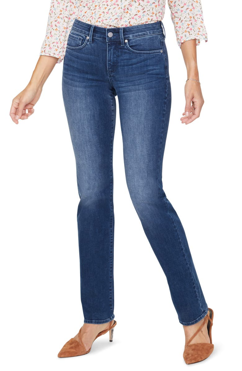 NYDJ Marilyn High Waist Cool Embrace Straight Leg Jeans, Main, color, SOLANA