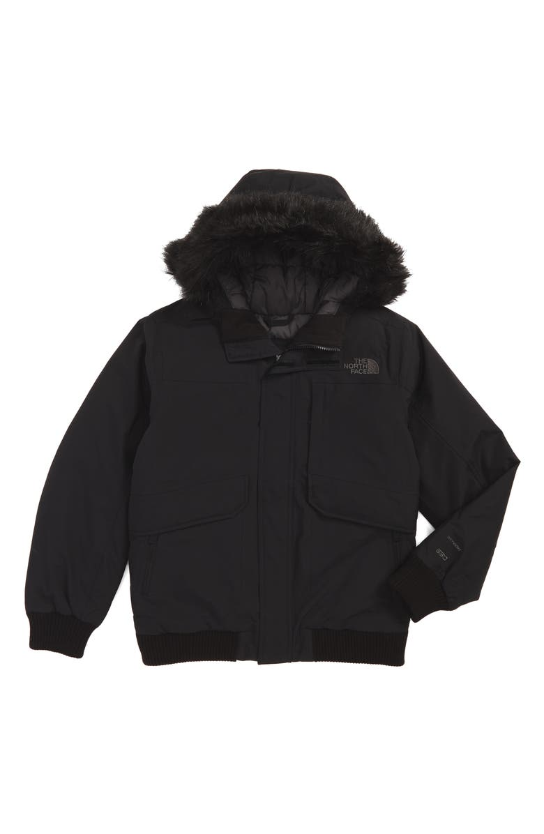 THE NORTH FACE Gotham Hooded Waterproof 550-Fill Power Down Jacket, Main, color, 001