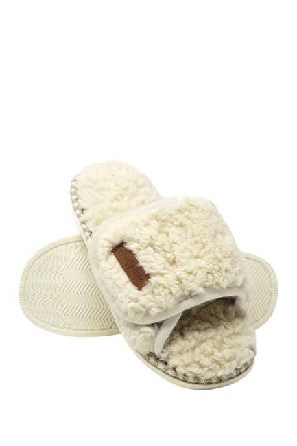 Image of GAAHUU Berber Adjustable Faux Fur Scuff Slipper