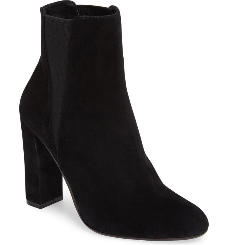 STEVE MADDEN Effect Block Heel Bootie, Main, color, 006