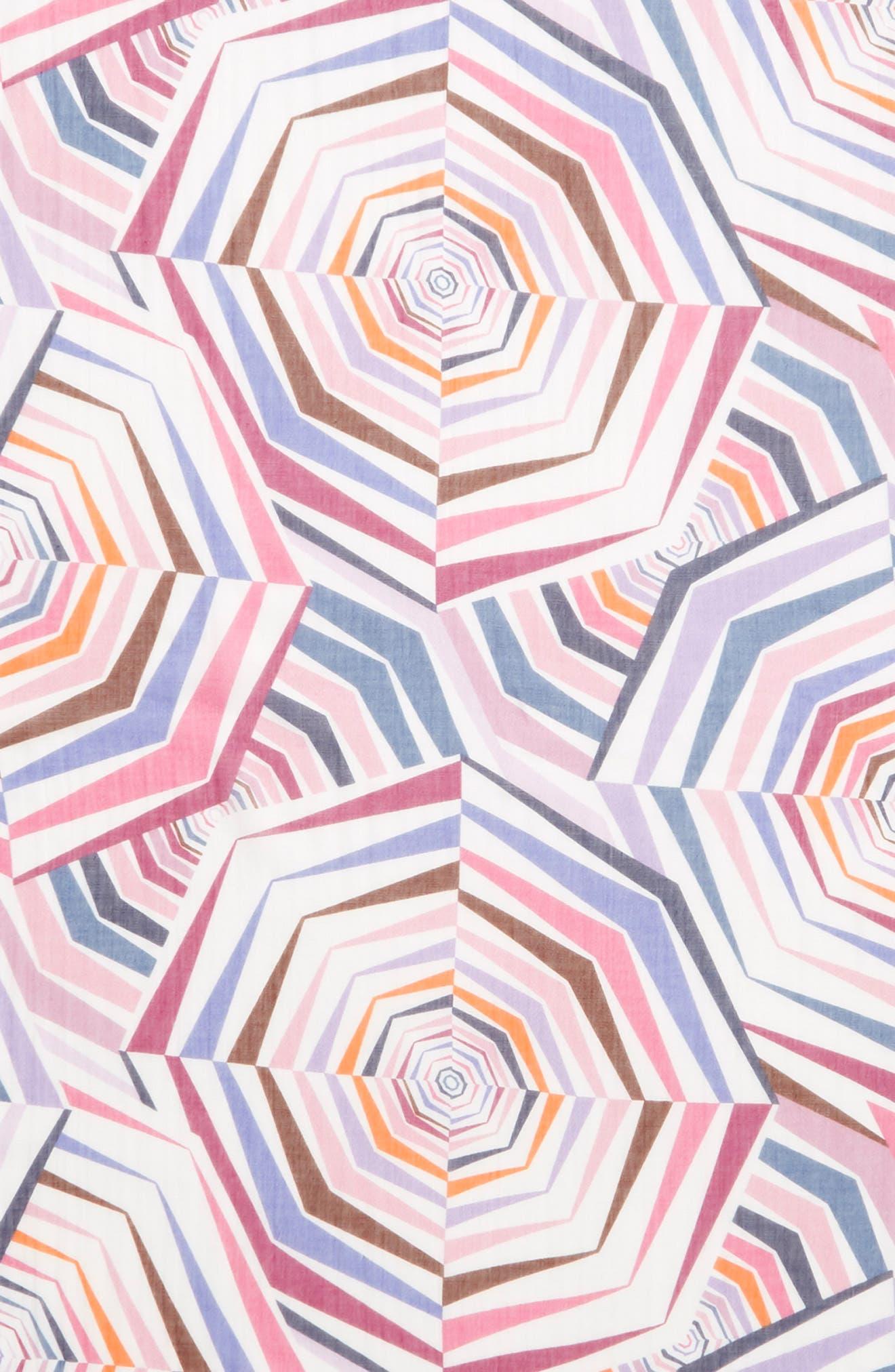 ,                             geobrella print fringe scarf,                             Alternate thumbnail 4, color,                             FRENCH CREAM