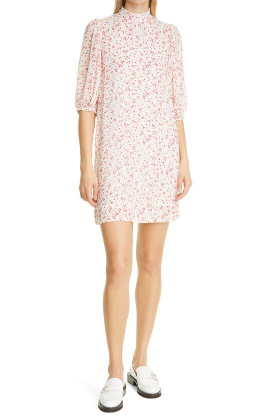 Ganni Mini dresses FLORAL ELBOW SLEEVE GEORGETTE DRESS