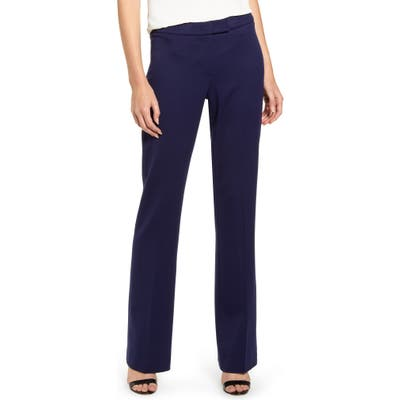Anne Klein Flare Leg Stretch Twill Pants, Blue