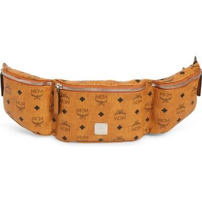 Mcm Adjustable Belt Bag - Brown