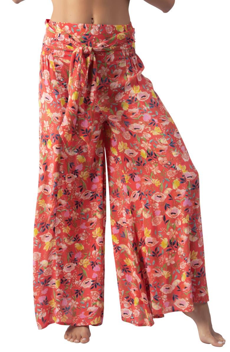 RIP CURL Meadowbrook Tie Waist Wide Leg Pants, Main, color, 620
