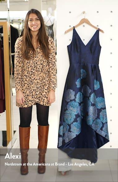 Niquita Metallic Jacquard High/Low Gown, sales video thumbnail