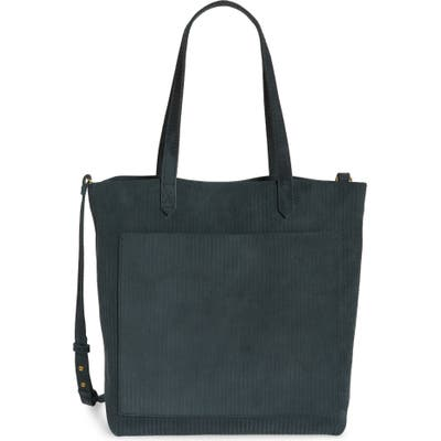 Madewell The Medium Transport Tote: Corduroy Suede Edition - Blue