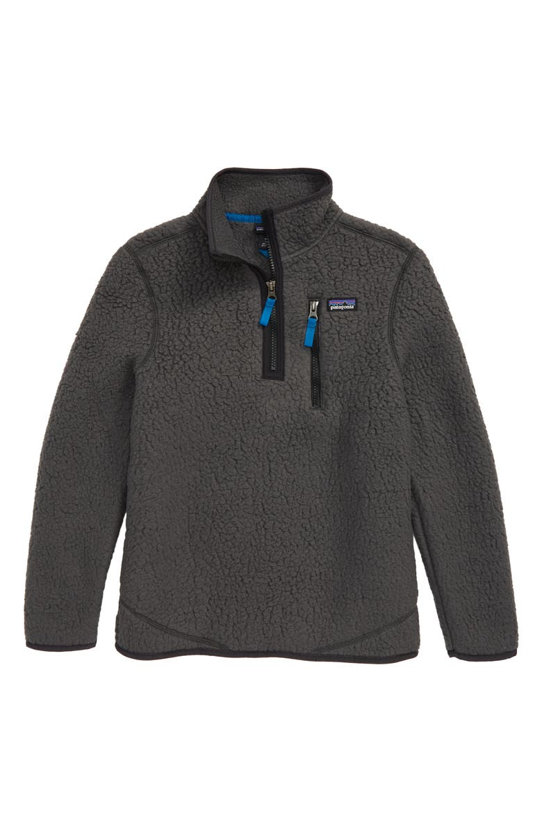 PATAGONIA Retro Pile Recycled Fleece Quarter Zip Pullover, Main, color, FORGE GREY
