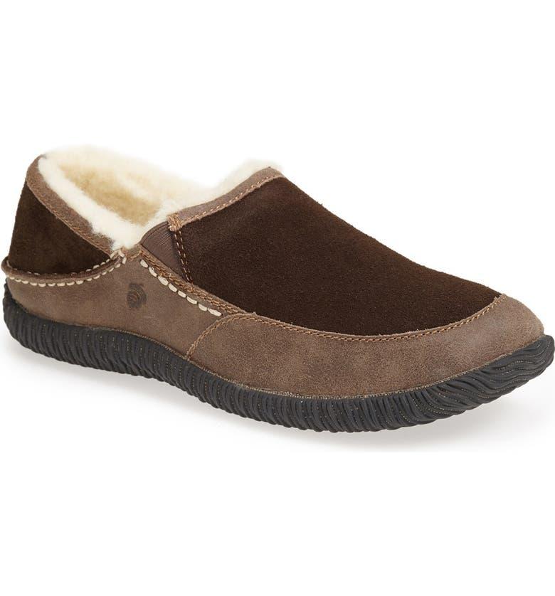 ACORN 'Rambler' Moc Toe Slipper, Main, color, CHOCOLATE