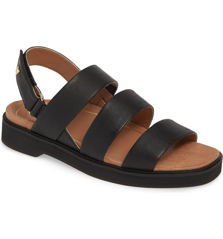 VIONIC Keomi Sandal, Main, color, BLACK LEATHER