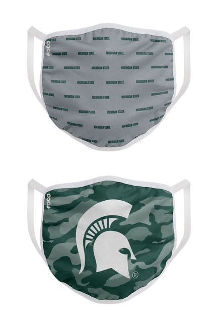 Image of FOCO NCAA Michigan State Clutch Printed Face Cover - Pack of 2