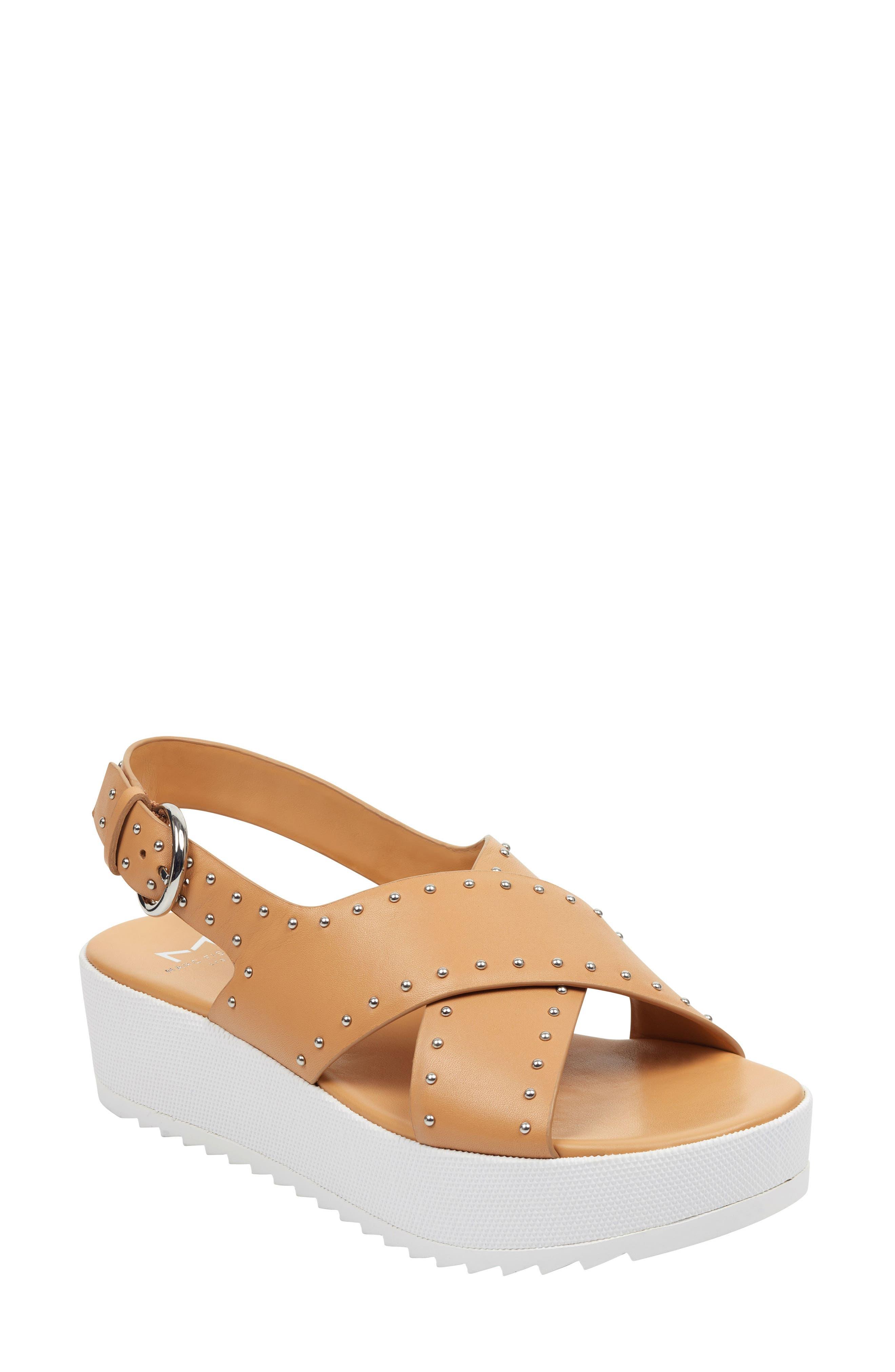 Marc Fisher Ltd Delilah Slingback Sandal, Brown