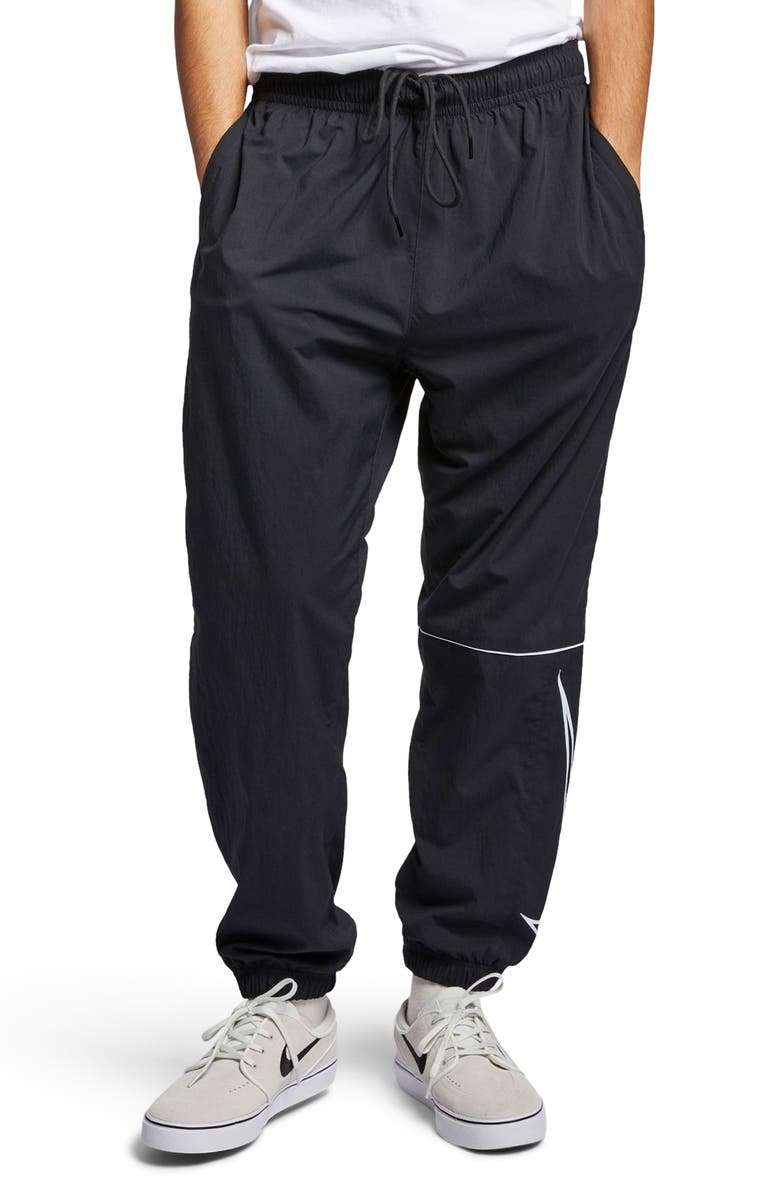 d4942da2 Swoosh Track Pants, Main, color, BLACK/WHITE/WHITE