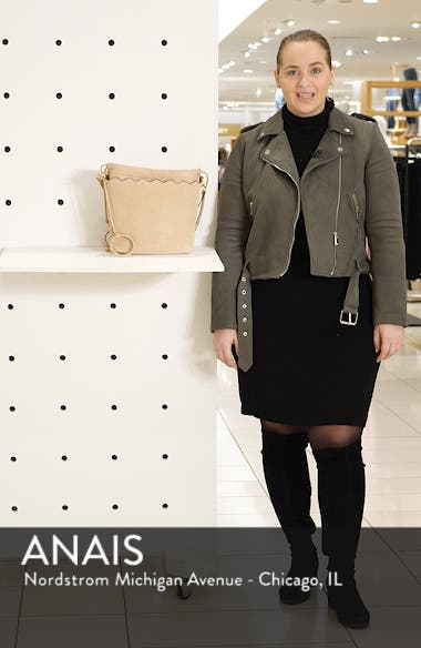 Wavy Leather Bucket Bag, sales video thumbnail