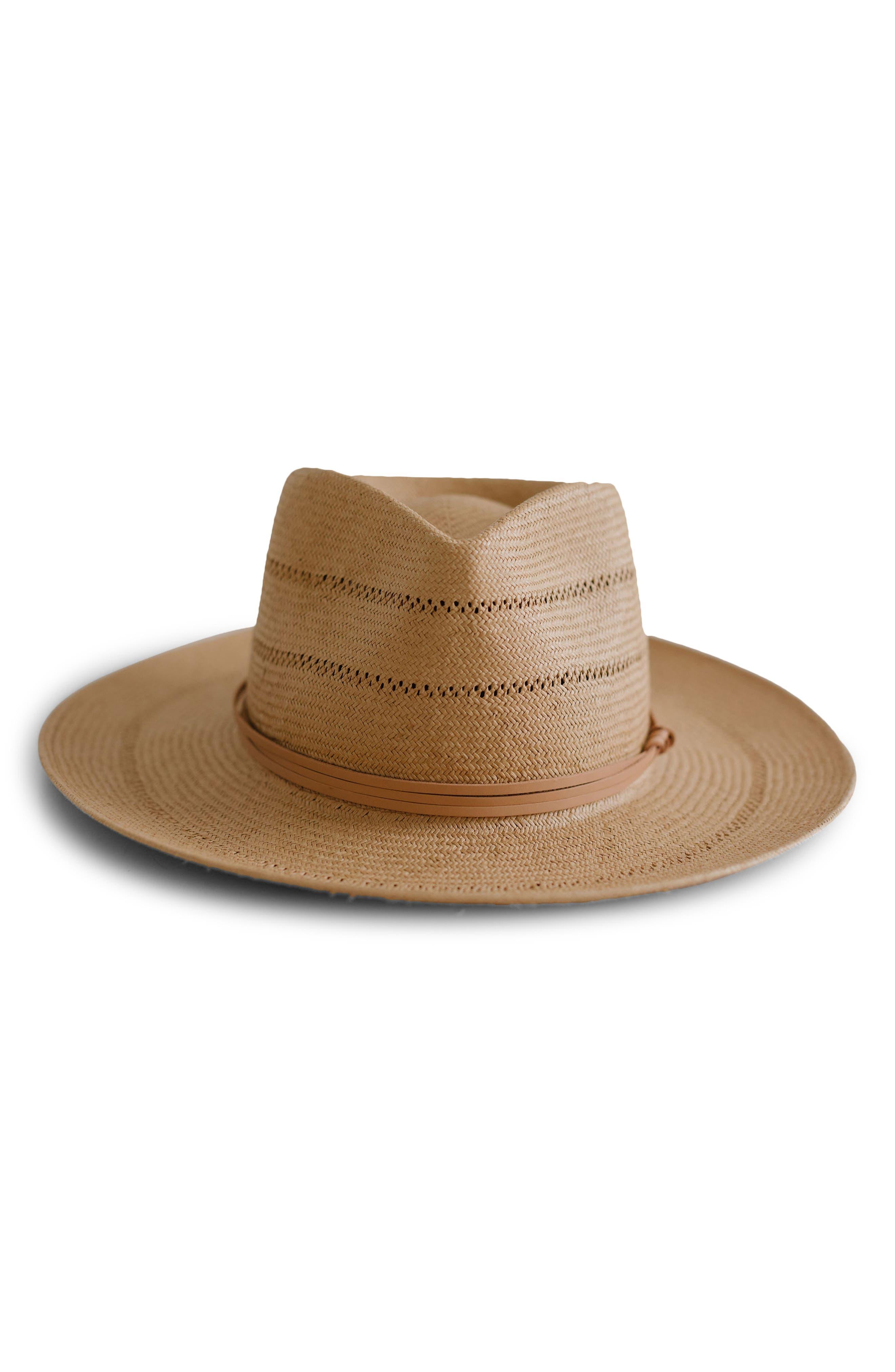 Straw Teardrop Fedora Hat