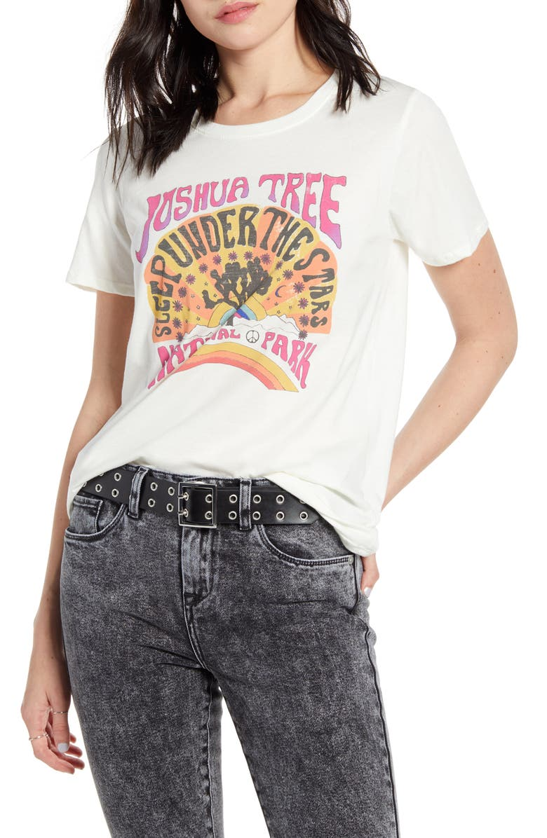 PRINCE PETER Joshua Tree Graphic Tee, Main, color, IVORY