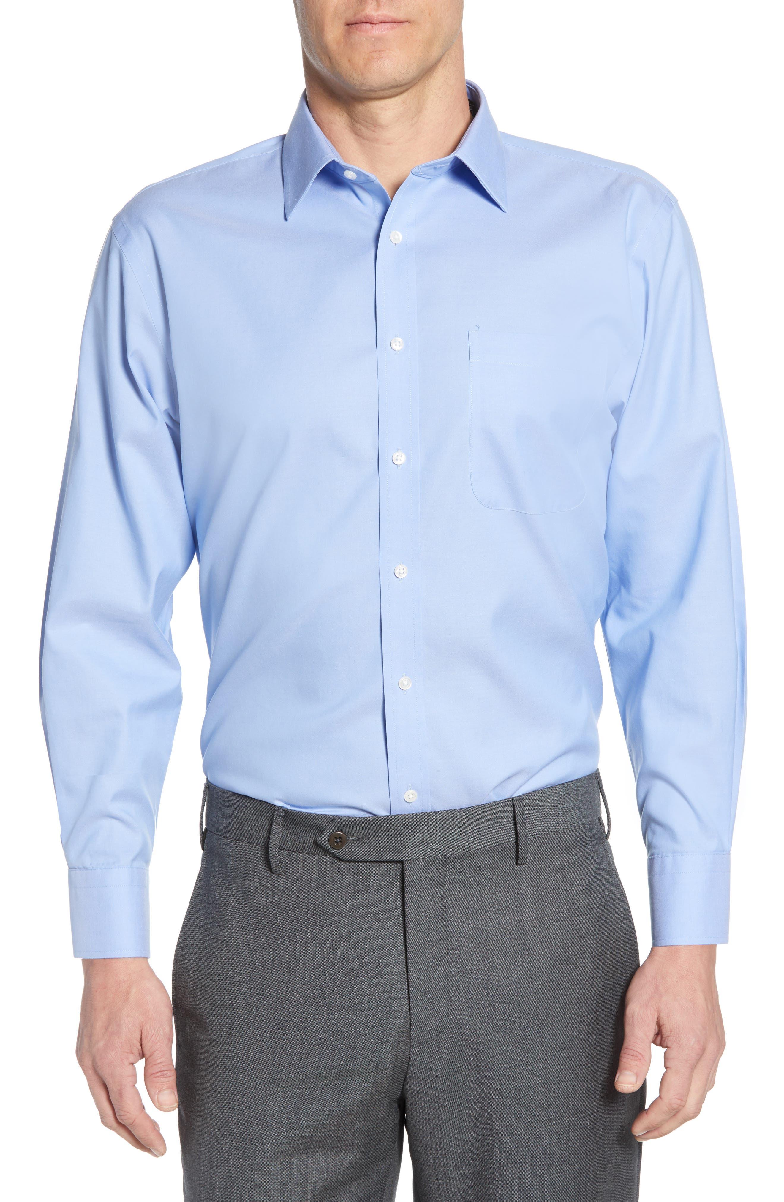 Nordstrom Shop Smartcare(TM) Traditional Fit Dress Shirt - Blue